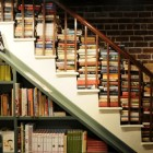 books on stairs